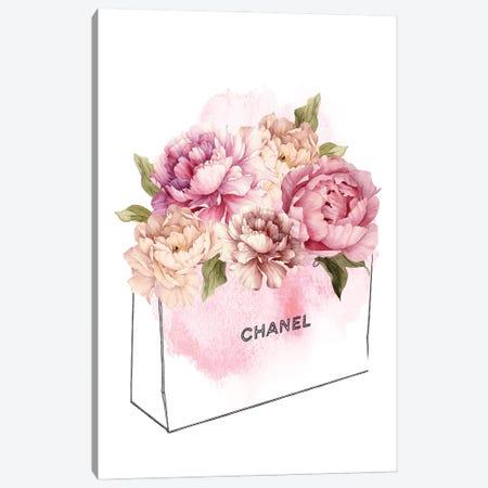 Bag Of Flowers Canvas Print #AVN18} by Amelie Vintage Co Art Print