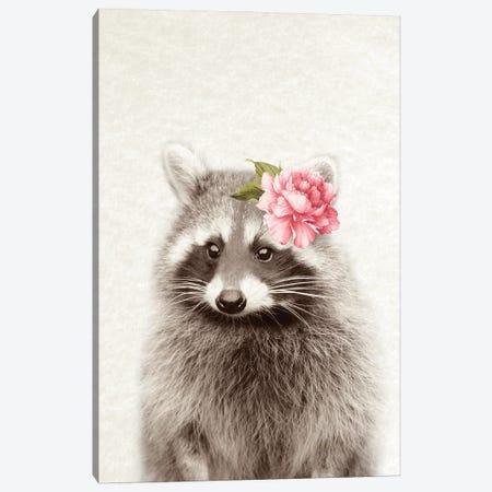 Floral Raccoon Canvas Print #AVN53} by Amelie Vintage Co Canvas Art Print