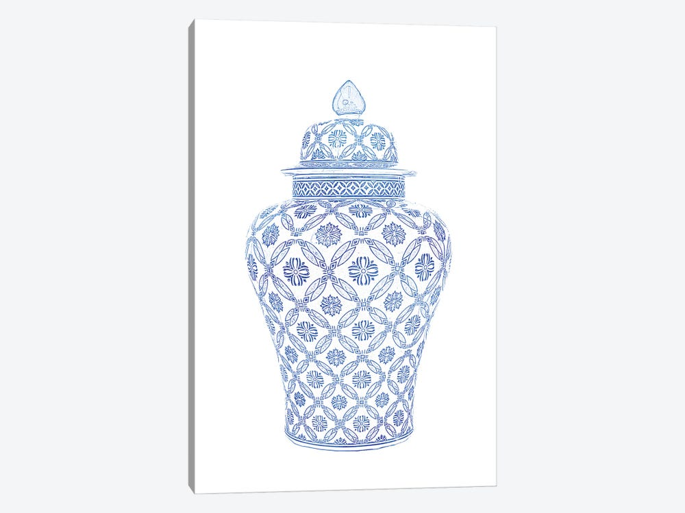 Ginger Jar II by Amelie Vintage Co 1-piece Canvas Wall Art