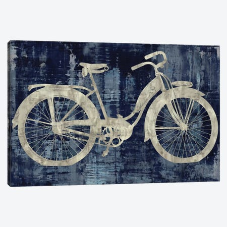 Vintage Ride In Blue Canvas Print #AWA13} by Amanda Wade Canvas Print