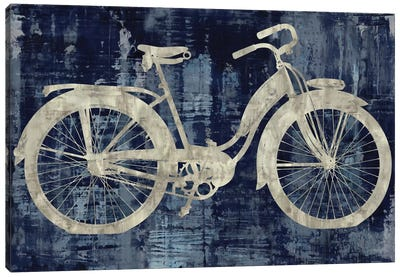Vintage Ride In Blue Canvas Print #AWA13