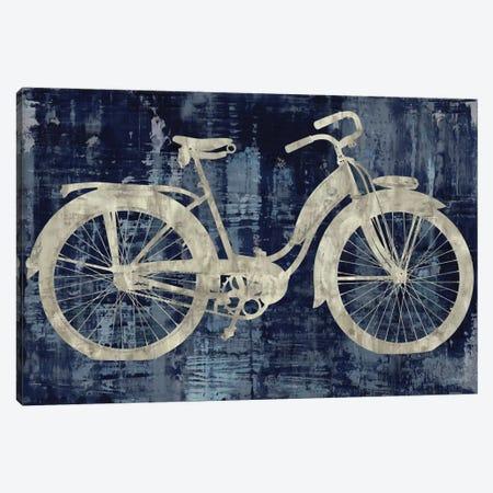 Vintage Ride In Blue Canvas Print #AWA13} by Amanda Wade Canvas Print