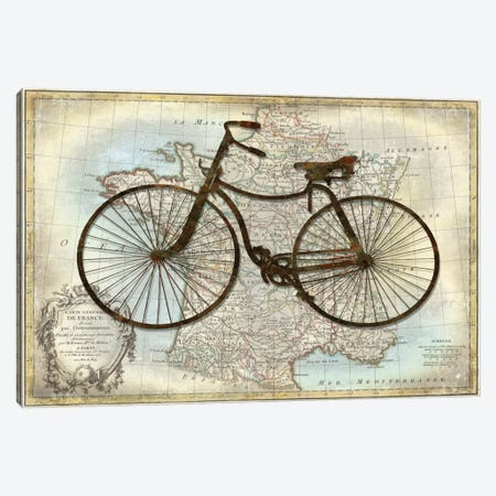 Bike France Canvas Print #AWA1} by Amanda Wade Canvas Wall Art