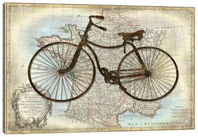 Bike France Canvas Art Print