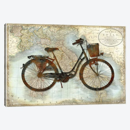 Bike Italy Canvas Print #AWA2} by Amanda Wade Canvas Wall Art