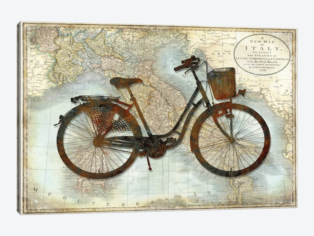 Bike Italy 1-piece Canvas Wall Art