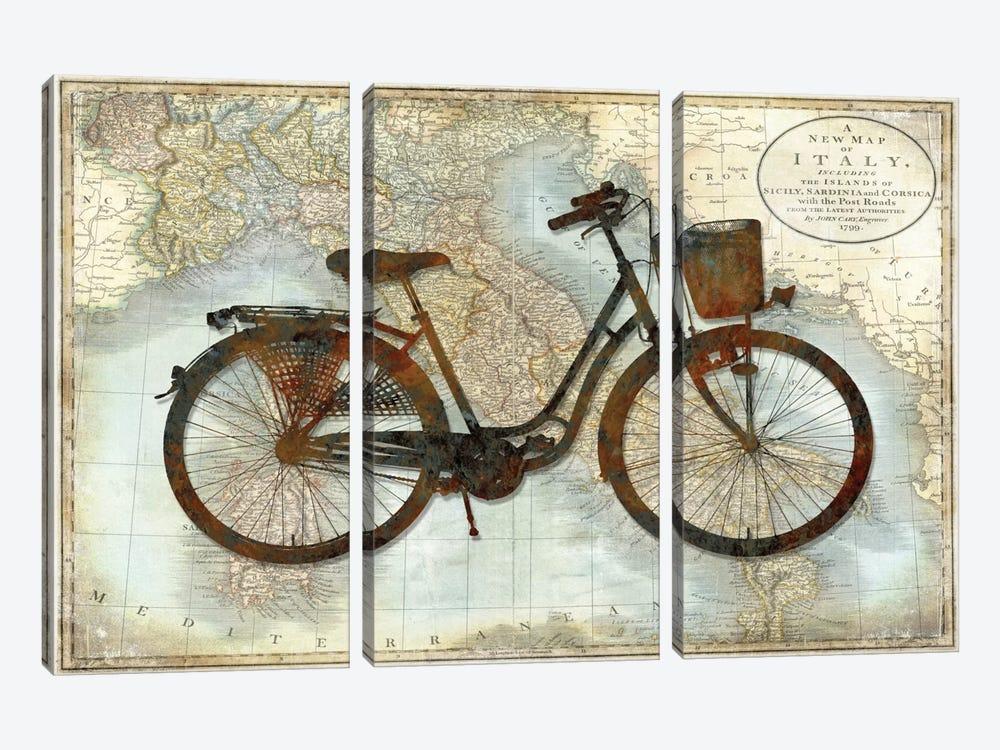 Bike Italy by Amanda Wade 3-piece Canvas Artwork