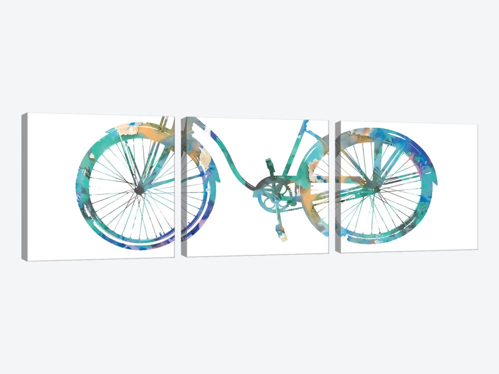 Bike Ride II by Amanda Wade 3-piece Canvas Art