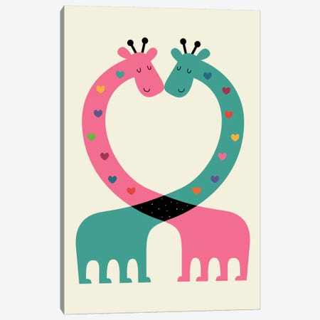 Love With Heart Canvas Print #AWE12} by Andy Westface Art Print