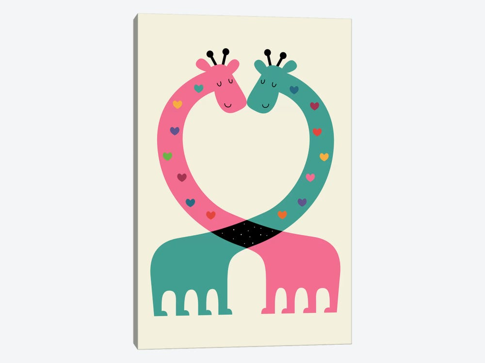 Love With Heart by Andy Westface 1-piece Art Print
