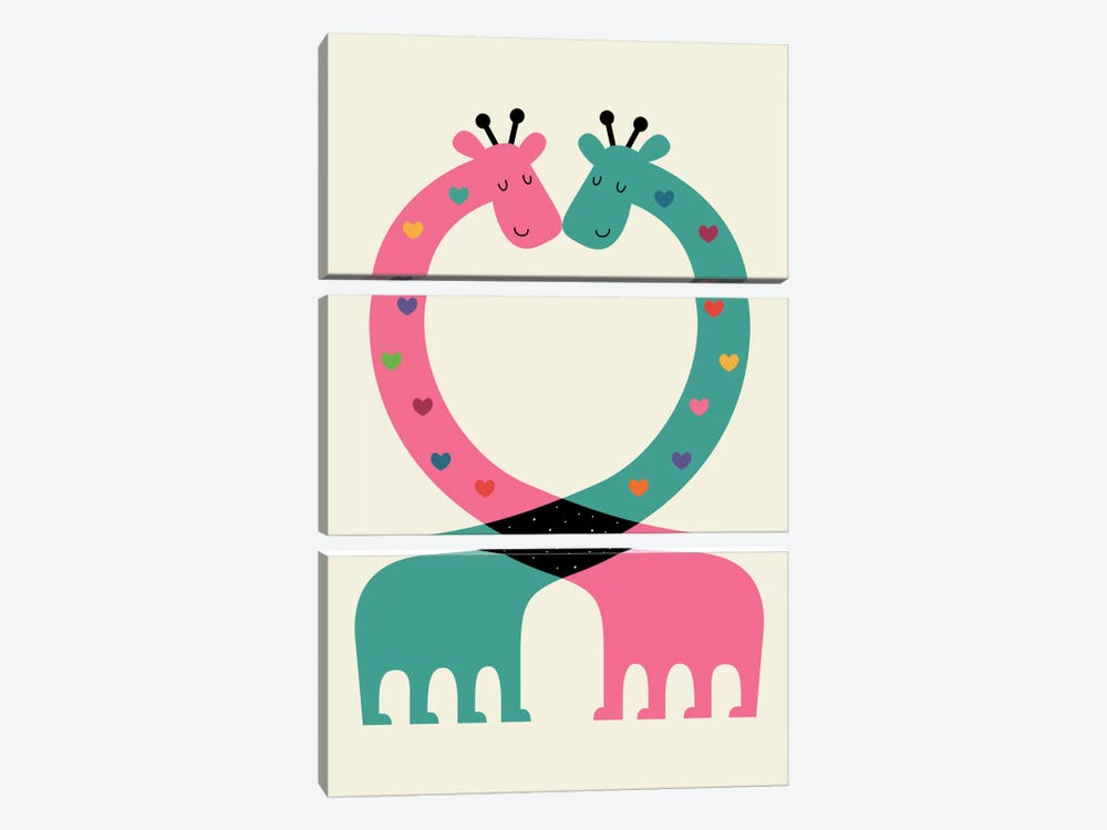 Love With Heart by Andy Westface 3-piece Art Print