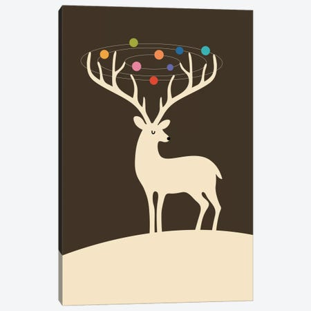 My Deer Universe Canvas Print #AWE13} by Andy Westface Art Print