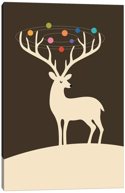 My Deer Universe Canvas Art Print