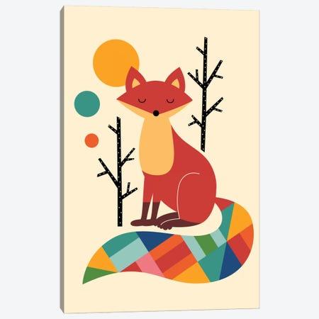 Rainbow Fox Canvas Print #AWE14} by Andy Westface Canvas Artwork