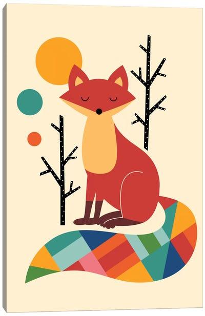 Rainbow Fox Canvas Art Print