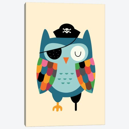 Captain Whooo Canvas Print #AWE16} by Andy Westface Canvas Art
