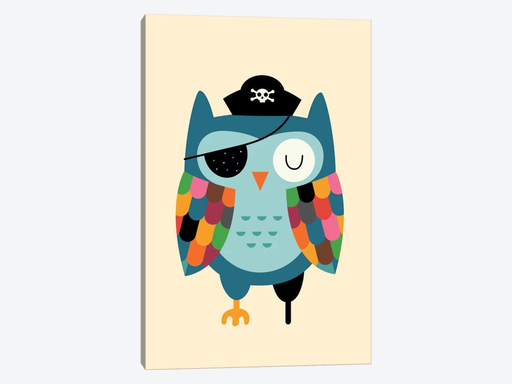 Captain Whooo by Andy Westface 1-piece Art Print