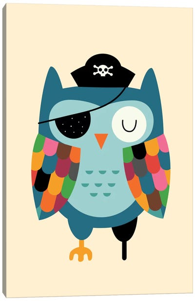 Captain Whooo Canvas Art Print