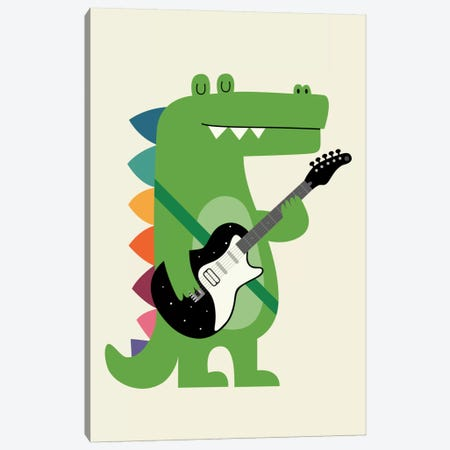 Croco Rock Canvas Print #AWE18} by Andy Westface Art Print