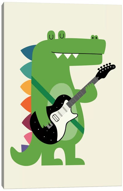 Croco Rock Canvas Art Print