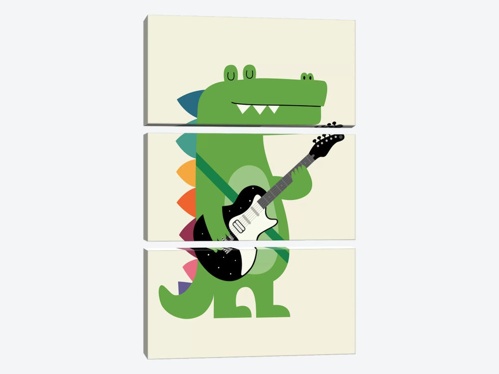 Croco Rock by Andy Westface 3-piece Canvas Print