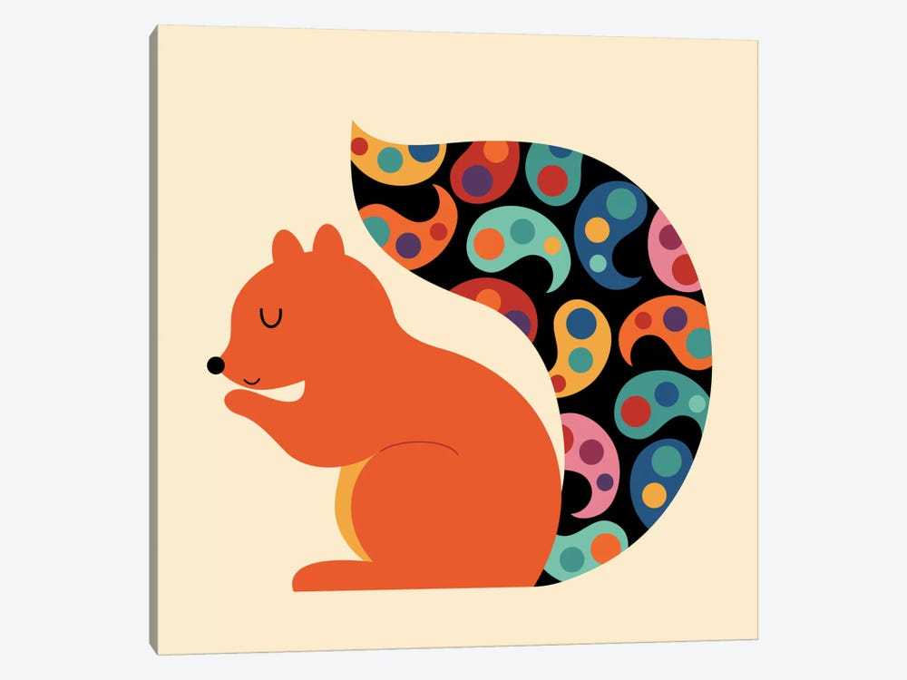 Paisley Squirrel by Andy Westface 1-piece Art Print