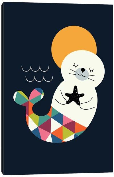 Seal Mermaid Canvas Print #AWE36