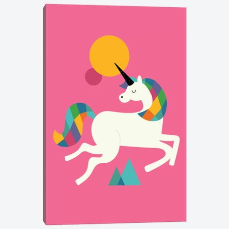 To Be A Unicorn Canvas Print #AWE37} by Andy Westface Canvas Art