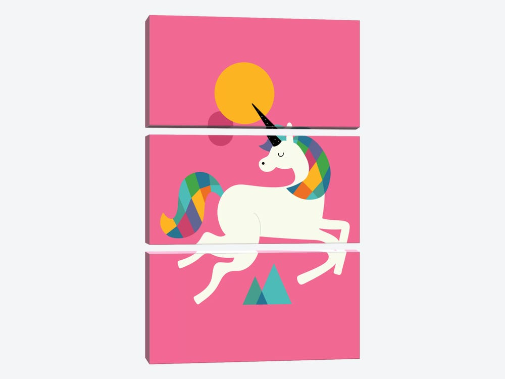 To Be A Unicorn by Andy Westface 3-piece Canvas Art