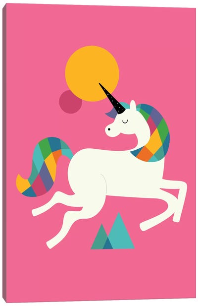 To Be A Unicorn Canvas Art Print