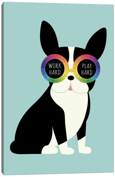 Work Hard Play Harder Canvas Art Print