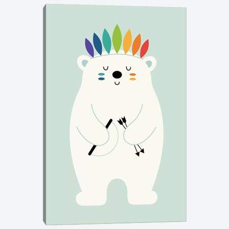 Be Brave Polar Canvas Print #AWE43} by Andy Westface Canvas Art
