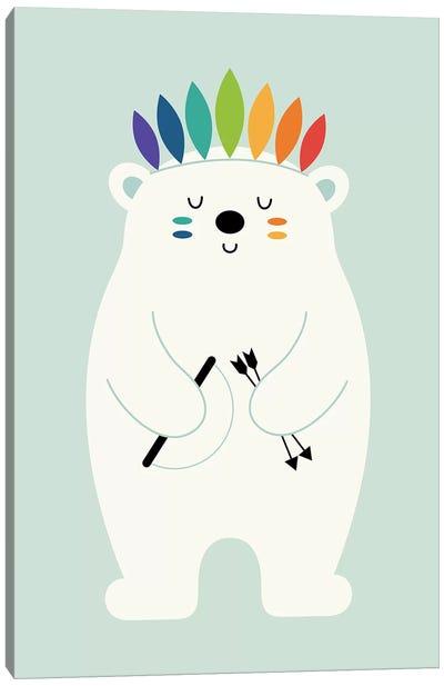 Be Brave Polar Canvas Art Print