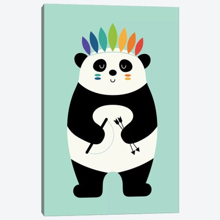 Be Brave Panda Canvas Print #AWE44} by Andy Westface Canvas Print