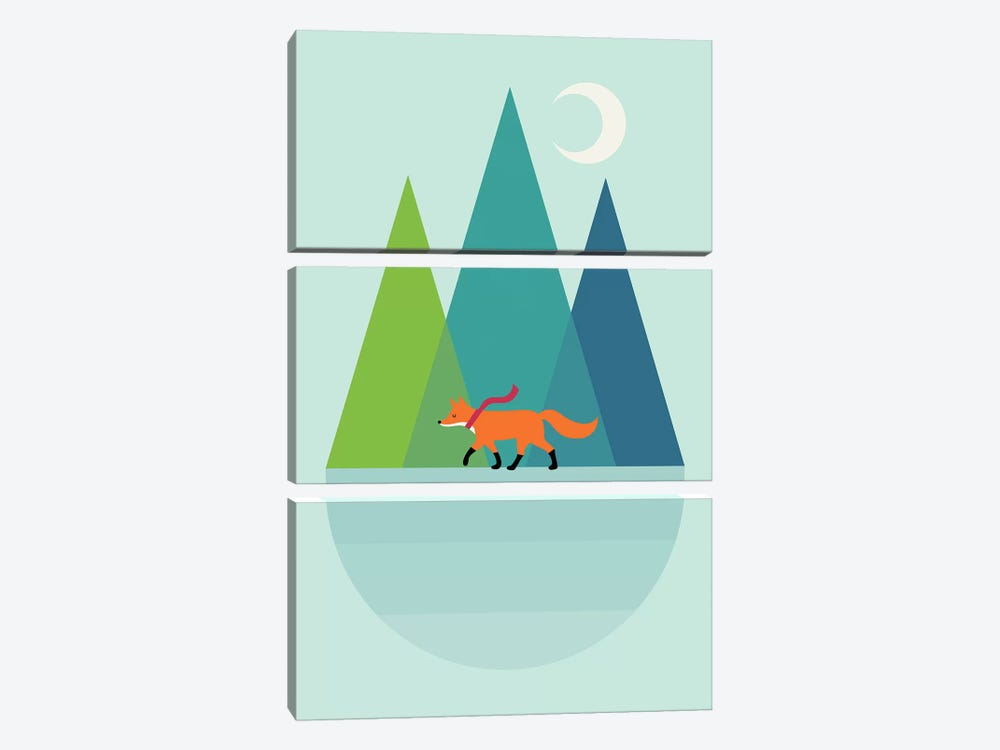 Walk Alone by Andy Westface 3-piece Canvas Wall Art