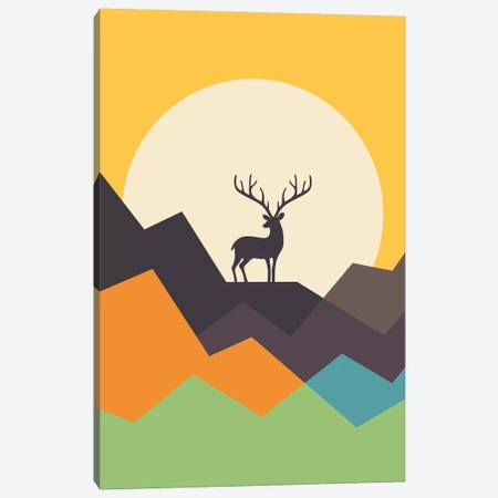 Deer Canvas Print #AWE49} by Andy Westface Canvas Wall Art