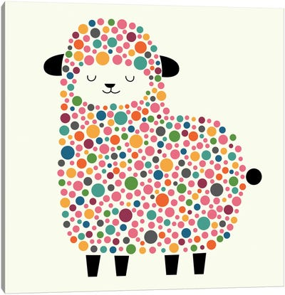 Bubble Sheep Canvas Print #AWE4