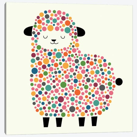 Bubble Sheep Canvas Print #AWE4} by Andy Westface Canvas Art Print
