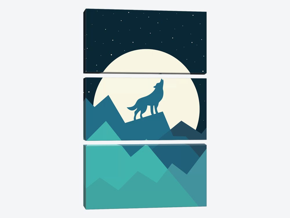 Keep The Wild In You by Andy Westface 3-piece Canvas Print
