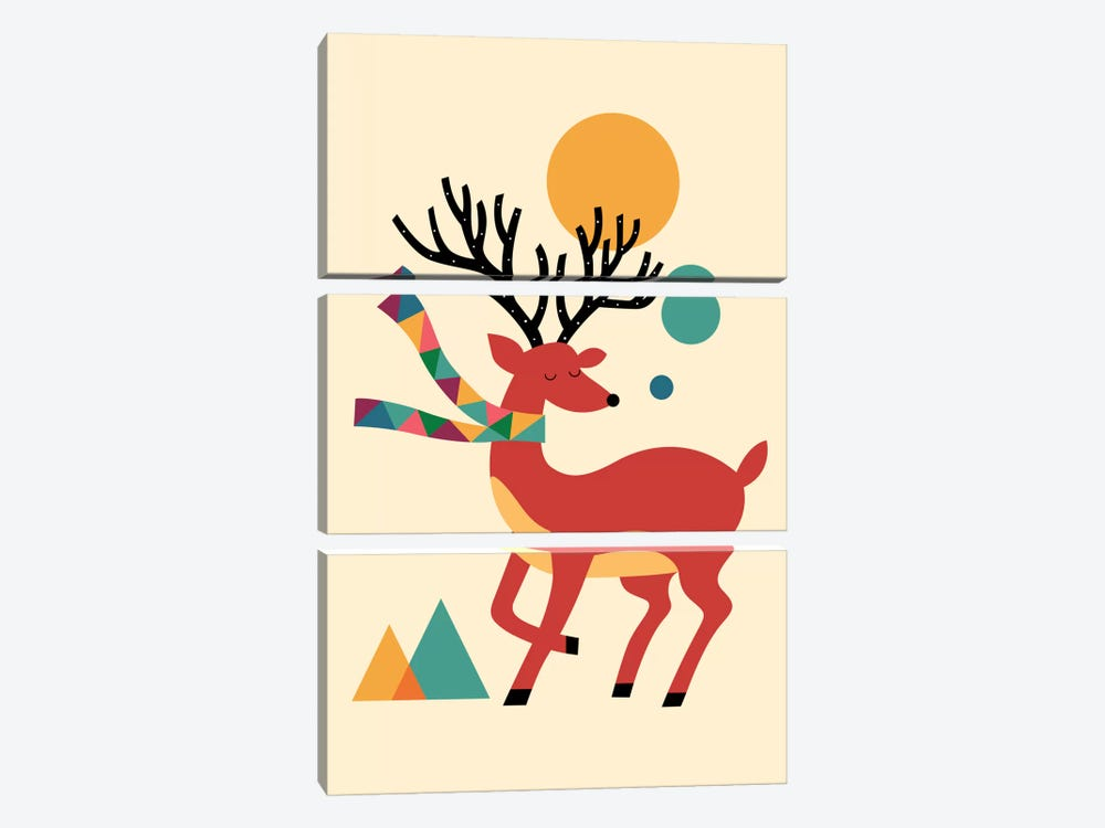 Deer Autumn by Andy Westface 3-piece Art Print
