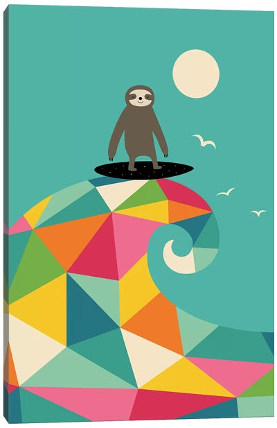 Surfs Up Canvas Art Print
