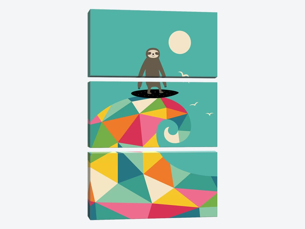 Surfs Up by Andy Westface 3-piece Canvas Print