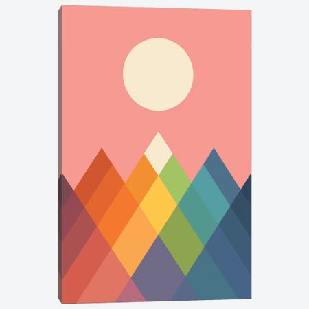 Rainbow Peak Canvas Print #AWE69} by Andy Westface Canvas Artwork