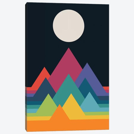 Whimsical Mountains Canvas Print #AWE70} by Andy Westface Canvas Art Print