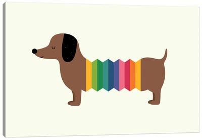 Rainbow Dooooog Canvas Art Print