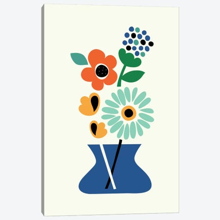 Floral Time Canvas Print #AWE8} by Andy Westface Canvas Artwork