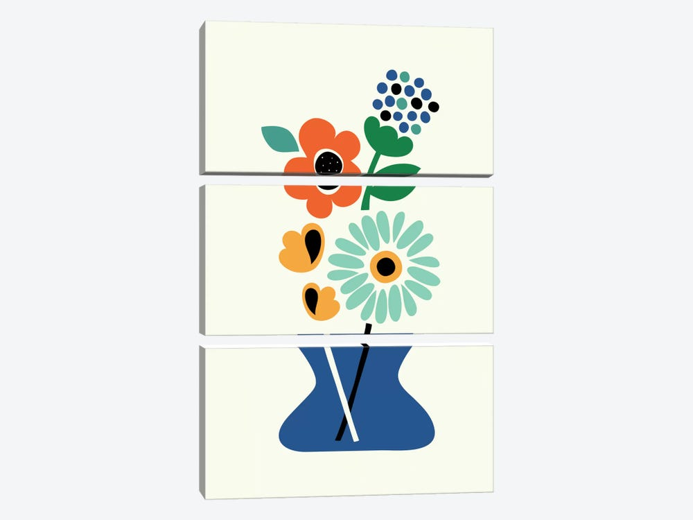 Floral Time by Andy Westface 3-piece Canvas Wall Art