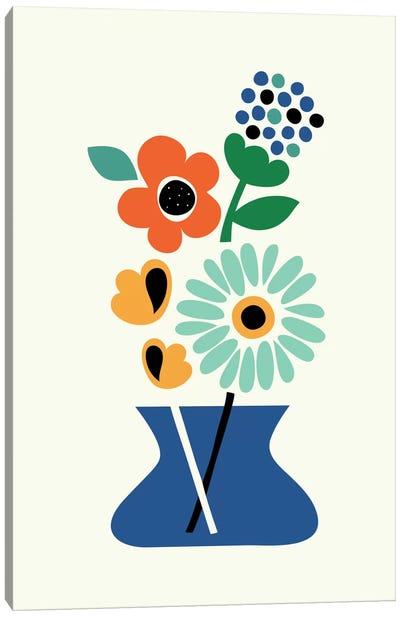 Floral Time Canvas Art Print