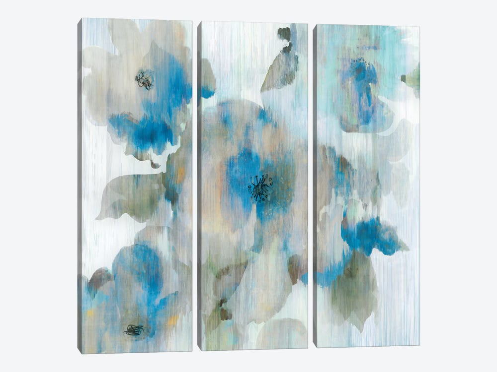 Forget Me Not II by Aimee Wilson 3-piece Canvas Wall Art