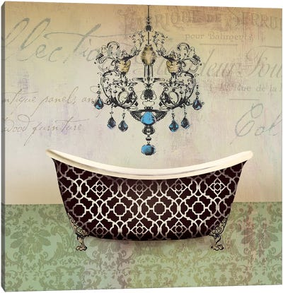 French Vintage Bath I Canvas Art Print